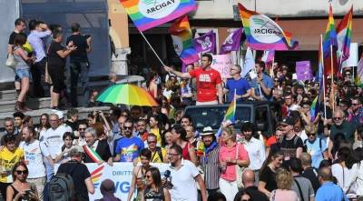 Gay pride v Vidmu leta 2017 (MESSAGGERO VENETO)