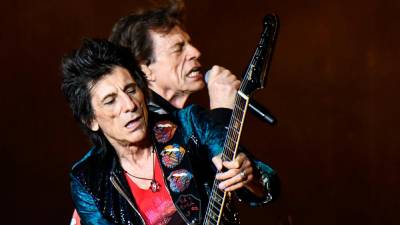 Ronnie Wood in Mick Jagger (ANSA)